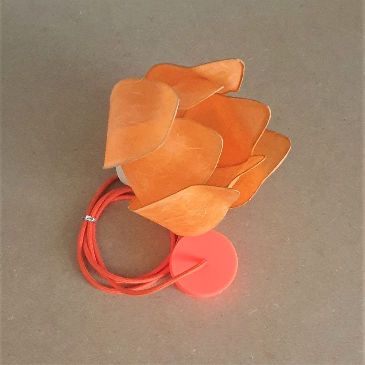 orange lamp with cable